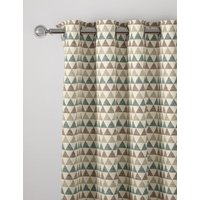 M&S Chenille Triangle Eyelet Curtains - STD72 - Duck Egg, Duck Egg,Ochre,Grey
