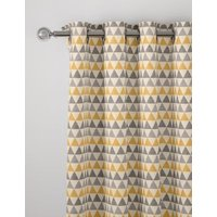 M&S Chenille Triangle Eyelet Curtains - WDR90 - Ochre, Ochre,Grey,Duck Egg