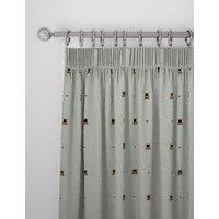 MandS Cotton Mix Bee Pencil Pleat Blackout Curtains - EW72 - Grey Mix, Grey Mix