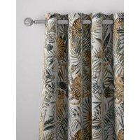 M&S Cotton Mix Tiger Eyelet Curtains - STD54 - Multi, Multi
