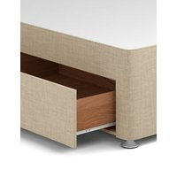 M&S Classic firm top 1+1 drawer divan 3ft - RH - Oatmeal, Oatmeal,Charcoal,Grey,Silver
