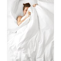 MandS Autograph Supimaandreg; Cotton 750 Thread Count Fitted Sheet - 6FT - White, White,Light Grey