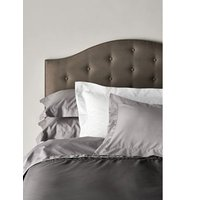 MandS Egyptian Cotton 400 Thread Count Percale Flat Sheet - 6FT - Ash Grey, Ash Grey