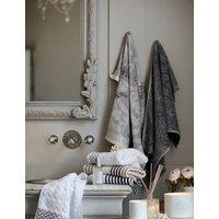 M&S Pure Cotton Striped Spa Towel - FACE - Mocha, Mocha,Light Duck Egg,Black,Dark Crimson
