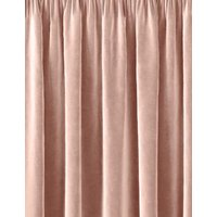 M&S Velvet Pencil Pleat Curtain - WDR54 - Soft Pink, Soft Pink,Grey,Navy,Charcoal