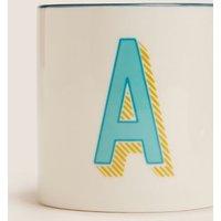 M&S Alphabet Mug - LetrA - Multi, Multi