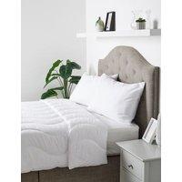 M&S Anti Allergy 4.5 Tog Duvet - DBL - White, White
