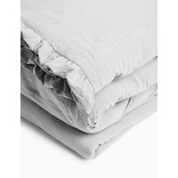 MandS Washed Quilted Bedspread - Large - Grey, Grey
