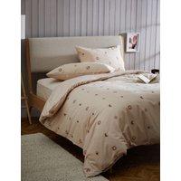 M&S Pure Cotton Sun and Moon Bedding Set - DBL - Neutral, Neutral