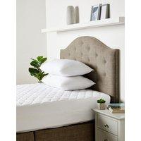M&S Fresh & Cool Mattress Protector - 6FT - White, White