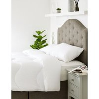 MandS Unisex Supremely Washable 4.5 Tog Duvet - 5FT - White, White