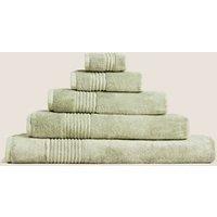 M&S Egyptian Cotton Luxury Towel - HAND - Pistachio, Pistachio,Soft Pink,Lime,Cobalt,Hot Pink,Denim,
