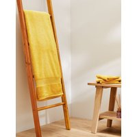 M&S Super Soft Pure Cotton Antibacterial Towel - EXL - Ochre, Ochre,Dark Green,Dark Crimson,Antique