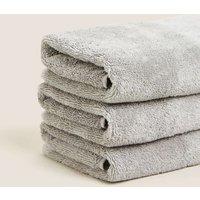 M&S Pure Cotton Alphabet Towel - LetrCBATH - Silver Grey, Silver Grey,White,Blush,Neutral
