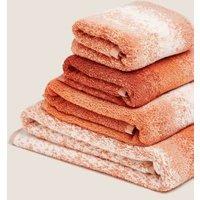 M&S Pure Cotton Ombre Luxury Design Towel - EXL - Terracotta, Terracotta,Navy Mix,Natural,Grey Mix