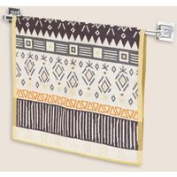 M&S Pure Cotton Geometric Towel - GUEST - Ochre, Ochre