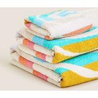M&S Pure Cotton Rainbow Kids Bath Towel - HAND - Multi, Multi