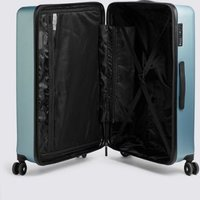 MandS Set of 3 Lisbon Hard Shell 8 Wheel Suitcase - 1SIZE - Blue, Blue,Pink