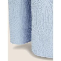 MandS Quilted Pinsonic Bedspread - Large - Chambray, Chambray,Neutral