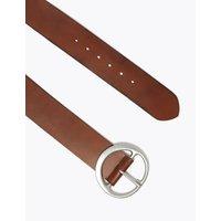 M&S Womens Leather Waist Belt - Tan, Tan