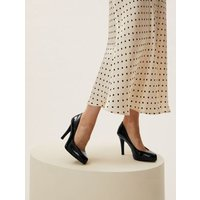 MandS Womens Patent Stiletto Heel Court Shoes - 3 - Black Pa