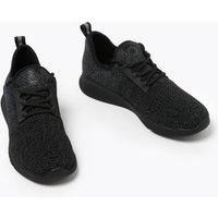 M&S Goodmove Womens Lace Up Knitted Trainers - 3 - Black, Black
