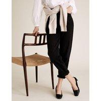 MandS Womens Kitten Heel Square Toe Court Shoes - 5.5 - Black, Black