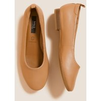 M&S Womens Leather Soft Toe Ballet Pumps - 3 - Nude, Nude,Blue,Black