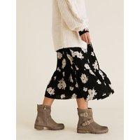 M&S Per Una Womens Suede Biker Buckle Ankle Boots - 3.5 - Mink, Mink
