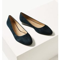 MandS Womens Suede Wedge Court Shoes - 3 - Navy Mix, Navy Mi