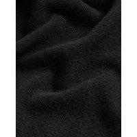 MandS Autograph Womens Pure Cashmere Textured Longline Cardigan - XS - Black, Black,Multi/Neutral