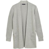 M&S Womens Soft Touch Knitted Longline Cardigan - 8 - Grey Marl, Grey Marl,Navy,Camel,Cream