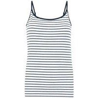 MandS Womens Cotton Striped Fitted Camisole Top - 6SHT - Navy Mix, Navy Mix