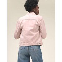 M&S Womens Pure Cotton Denim Jacket - 24 - Dusted Pink, Dusted Pink,Ecru,Khaki