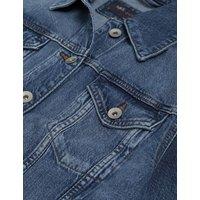 M&S Womens Denim Jacket with Stretch - 8 - Indigo, Indigo