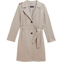 M&S Womens Faux Leather Belted Trench Coat - 16 - Fawn, Fawn,Chocolate