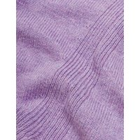 M&S Autograph Womens V-Neck Relaxed Jumper with Yak Wool - 8 - Lilac, Lilac