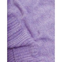 MandS Autograph Womens Merino Wool Collared Cardigan with Cashmere - 8 - Lilac, Lilac,Soft Brown