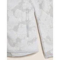 MandS Goodmove Womens Zip Up Printed Fleece Jacket - 6 - Lig