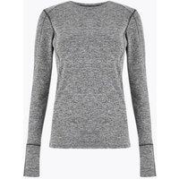 M&S Goodmove Womens Performance Long Sleeve Top - 6 - Grey Marl, Grey Marl