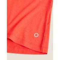 M&S Goodmove Womens Mesh Back Short Sleeve Top - 10 - Medium Red, Medium Red,Black