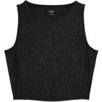 M&S Goodmove Womens Printed Scoop Neck Cropped Vest Top - 10 - Black, Black