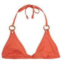 M&S Womens Ring Detail Plunge Triangle Bikini Top - 16 - Rust, Rust