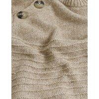 M&S Per Una Womens Cotton Textured Button Detail Jumper - 8 - Camel, Camel,Ochre