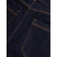 M&S Womens Lily Magic Shaping High Waisted Jeans - 6REG - Indigo, Indigo,Black