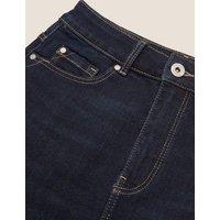 M&S Womens Denim Mini Skirt - 6 - Indigo, Indigo,Medium Indigo