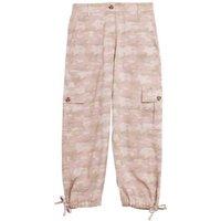 MandS Womens Tencel™ Cargo Camo Cropped Trousers - 6REG - Pink Mix, Pink Mix