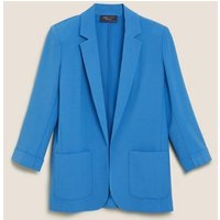 MandS Womens Tailored Patch Pocket Blazer - 8 - Blue, Blue,Black,Navy,Soft White