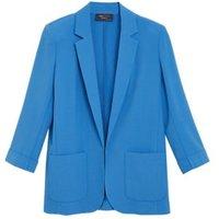 MandS Womens Tailored Patch Pocket Jacket - 8 - Blue, Blue,Black,Navy,Soft White