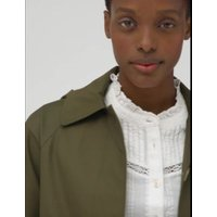 M&S Womens Hooded Car Coat - 8 - Dark Khaki, Dark Khaki